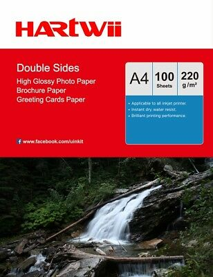 40 Sheets A4 220Gsm Double Sided High Gloss Photo Paper Inkjet Paper Printing AU