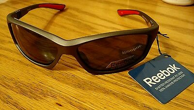 Reebok Sunglasses Golf Zigtech 3.0 Gray & Red FGX Cat UVA/UVB Protection NEW