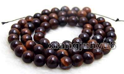 SALE small 6mm Round Red natural tiger's-eye gemstone Beads strand-los695