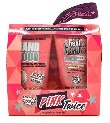 Soap and Glory Pink Twice Hand Food & Heel Genius Gift Set