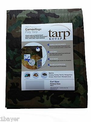 Kotap 10-ft x 12-ft Camouflage 7-mil Poly Tarp