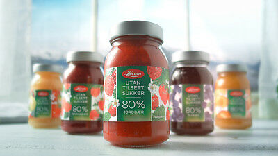 Lerum syltetoy - Different Norwegian jams without added sugar (330g)