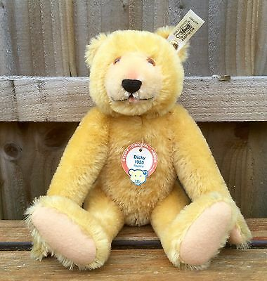 Steiff -Dicky- Ltd Edition Blond Articulated 1935 Replica Collectors Bear 407581