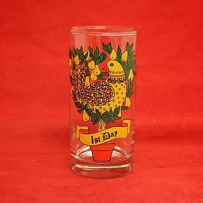 Twelve Days Of Christmas 1ST DAY Tumbler Indiana Glass Partridge in a Pear Tree