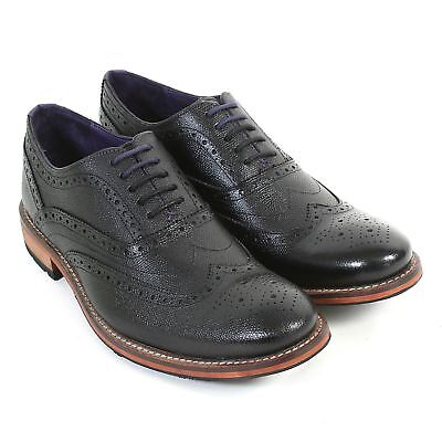 Ted Baker Men's Guri 8 Formal Leather Lace Up Brogue Black