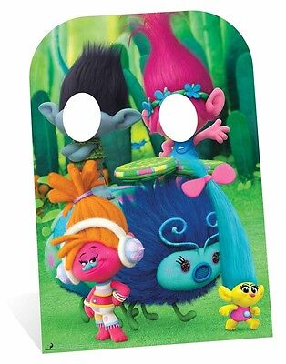 Trolls Poppy and Branch Child Size Cardboard Cutout Stand-In DreamWorks photos