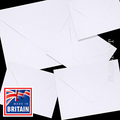 1000 x White 5 inch Square Envelopes 130 x 130mm - Wholesale