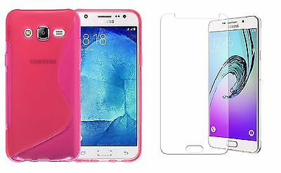 PINK S-LINE TPU CASE+ CLEAR SCREEN PROTECTOR FOR MetroPCS SAMSUNG GALAXY J7