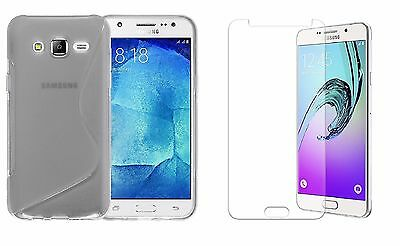 Clear S-Line Tpu Case+Clear Screen Protector For Virgin Mobile Samsung Galaxy J7