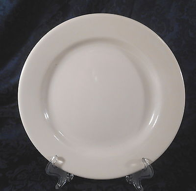 "HOMER LAUGHLIN 9"" Solid Off White / Cream - Ceramic Plate"