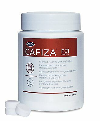 Urnex Cafiza 100 Tablets Espresso Machine Cleaning Tablets