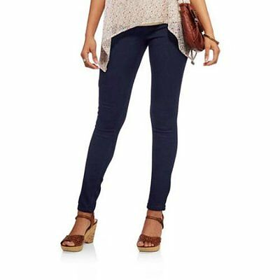 New Young Girls Skinny Stretchy Dark Blue Jeggings Zipper Age 9 to16 Years BNWT