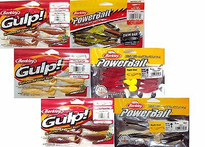 "6Pk Berkley Ripple Shad 3"" Fishing Lures Powerbait & Gulp Soft Plastic Bulk Pack"