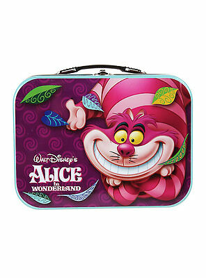 Disney Alice In Wonderland Cheshire Cat Tin Metal Lunchbox lunch bag Large Tote