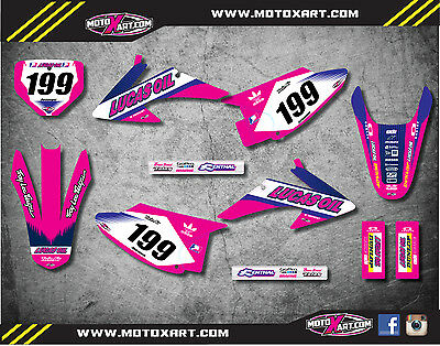 Full  Custom Graphic  Kit -ACTIVE PINK STYLE - HONDA CRF 150 F - 2008 / 2014