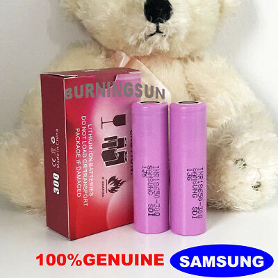 2X 2500 mAH GENUINE 18650 3.7V RECHARGEABLE ASPIRE ,FLAT TOP BATTERY