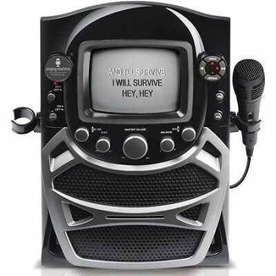Singing Machine CD+G Karaoke System with Built-in 14cm B & W CRT Monitor and Mic