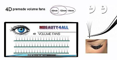 0.07/D/14mm Premade 4D Lash Fans Russian Volume Lashes Eyelash Extensions. Free