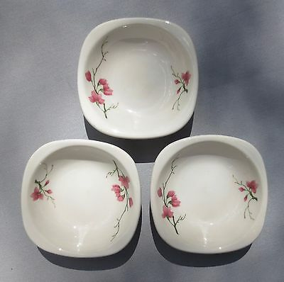 Vintage 1956 SYRACUSE CHINA Sante Fe RR Fred Harvey Restaurant Ware Berry Bowls