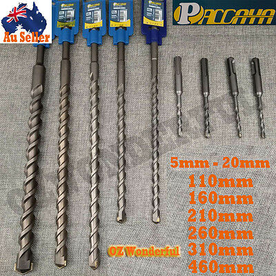MASONRY DRILL BIT CARBIDE TIP TUNGSTEN SDS PLUS CONCRETE HAMMER SHANK 5mm - 20mm