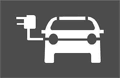 Electric Vehicle Charge Point Stencil