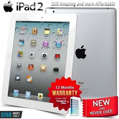 New in Sealed Box APPLE iPad 2 II A5 CPU 32GB White PC Tablet (Wifi Only)