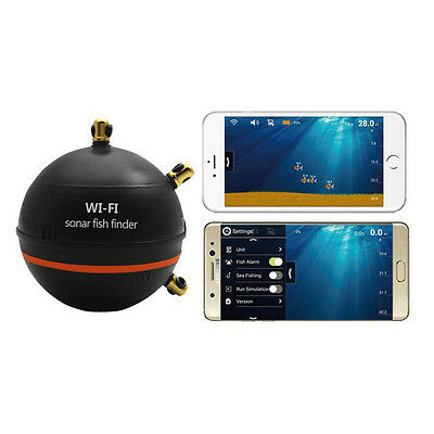 New Wireless Fish Finder Depth Sonar Wifi Fishfinder Tool for iOS and Android