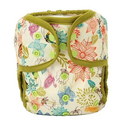 1 Baby Diaper Cover Nappy Cover Double Gussets One Size Bloom Flowers For Girls