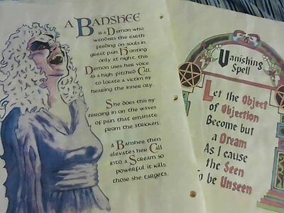 Set #2 Printed Charmed Pages for Book of Shadows 100 pages (2 of 4)