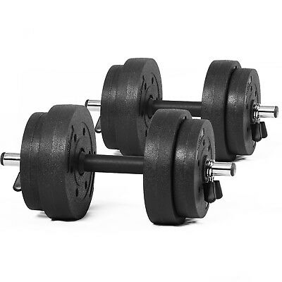 Weights Set 20kg Cast Iron Dumbbells Weight Lifting Home Gym Workout Training