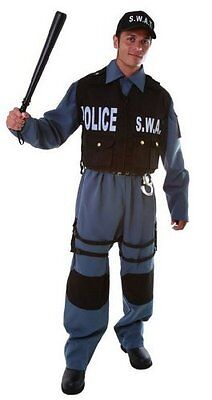 Dress up America Deluxe Adult SWAT Police Officer Costume Set with Shirt/ Vest/