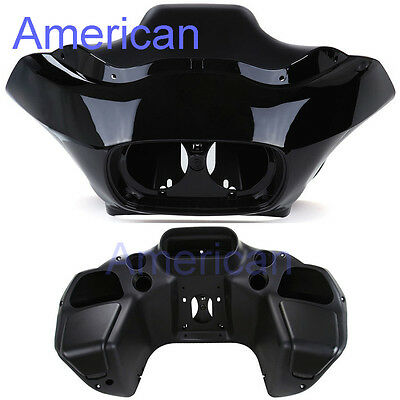 Matt Black Inner & Vivid Black Outer ABS Injection Fairing for Harley Road Glide