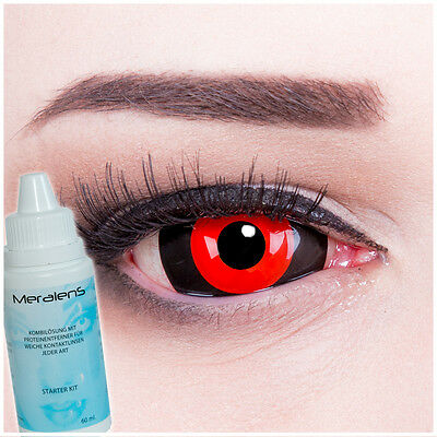 Tokyo Ghoul Anime Black Red Sclera 22mm Contact Lenses Lentilles Linsen Lenti