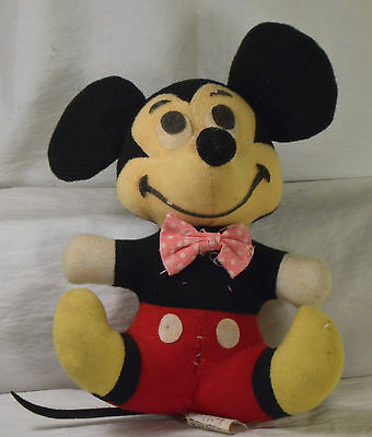 #2352 Vintage Old Stuffed Mickey Mouse doll