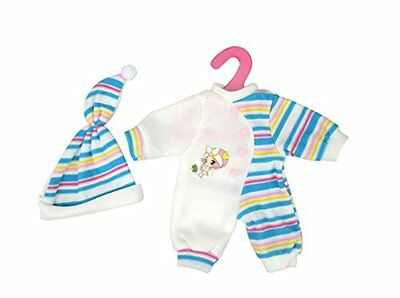 Highmall-uk 11.5 Inches High Simulation Baby Dolls Clothes Stripes Rompers Suit