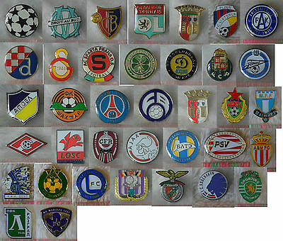 uk UEFA pin brooch metric soccer football club league emblem badge match