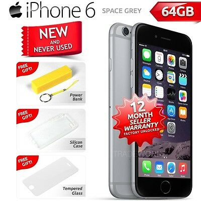 New in Sealed Box Factory Unlocked APPLE iPhone 6 Space Grey 64GB 4G Smartphone