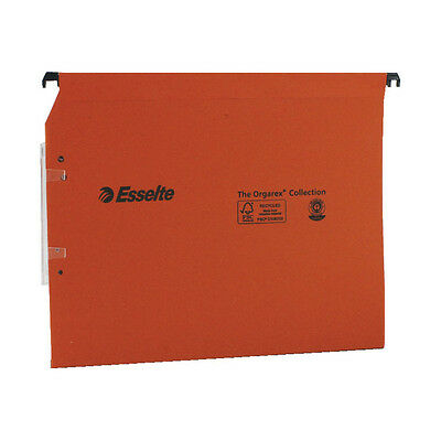 ESSELTE ORGAREX ORANGE LINKABLE LATERAL FILE 30mm A4 25 PACK / 21629