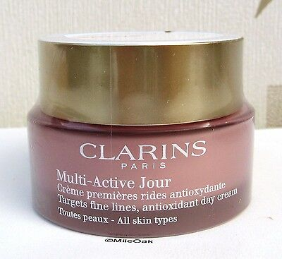 Clarins Multi Active Day Cream - All Skin Types  50ml New & Sealed