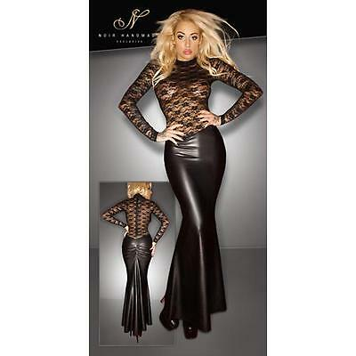 Wetlook-Spitzen-Kleid Gr. S