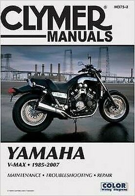 Yamaha V-Max VMX1200 V Max 1985-2007 Clymer Manuale M375-2 NUOVO UPDATED