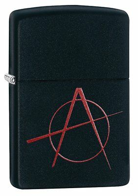 Zippo Lighter - Anarchy Black Matte Lighter - 20842