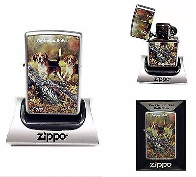 Zippo Artist Linda Picken Beagle Lighter Special For Collectors Very Rare To Get