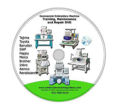 Commercial Embroidery Repair DVD