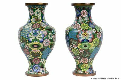 China 20. Jh. Vasen -A Pair Of Chinese Cloisonne Baluster Vases - Cinese Chinois