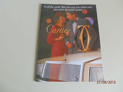 Ford Ltd ''cartier'' Sales Brochure '''rare'''