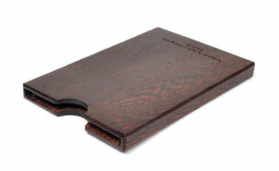 Maison Martin Margiela Genuine Wood Card Holder (Dark Brown) MMM