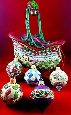"Jim Shore ""sleigh Bells Ring"" Set Of 6"