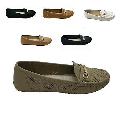 New Women Ankle Strap Casual Zipper Slip On  Ballet Flat  Shoes