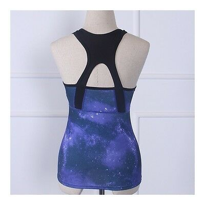 Exquisite Yoga Fitness Sports Vest Running Dry Fast ( Padded )tarry sky blue